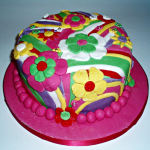 Pop Art Flower Cake