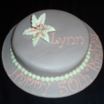 Stargazer and Pearls Celebration Cake