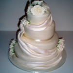 Draped Fabric Wedding Cake