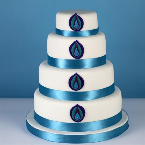 Peacock Wedding Cake