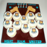 West Ham Cupcake set