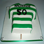 Celtic Football Shirt Cake