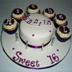 Musical Sweet 16 Cake Set