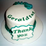 Thank-You Plaque Cake