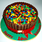 Kit Kat and M&Ms cake