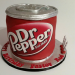 Dr Pepper Can Cake