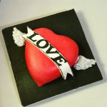 Tattoo Heart Cake