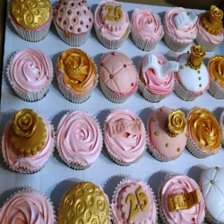 Vintage Rose Gold Cupcake selection
